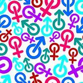 stock photo of she-male  - Gender vector symbols - JPG