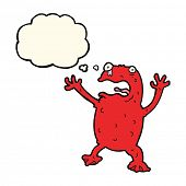 image of poison  - cartoon poisonous frog with thought bubble - JPG