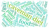 picture of fat-guts  - Caveman diet word cloud on a white background - JPG