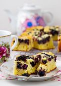 stock photo of mulberry  - pie with a mulberry - JPG