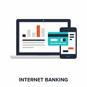 picture of internet-banking  - Abstract vector illustration of internet banking flat design concept - JPG