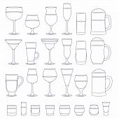 Постер, плакат: Alcohol glasses set