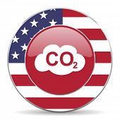pic of carbon-dioxide  - carbon dioxide american icon original modern design for web and mobile app on white background  - JPG