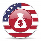 foto of american money  - money american icon original modern design for web and mobile app on white background  - JPG