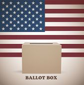 foto of election  - American elections ballot box abstract vector background - JPG