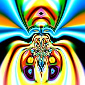 picture of psychedelic  - Colorful spider abstraction - JPG