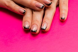 foto of nail paint  - Beautiful manicure nails - JPG