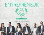 Постер, плакат: Entrepreneur Business Venture Handshake Graphic