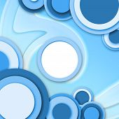 Abstract Circular Windows Blue