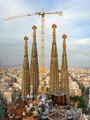 Gebäude Sagrada Familia, Barcelona, Spanien