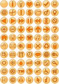 Illustrations of Web icons in orange