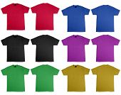 T-shirt front and back of different colors where you can test your T-shirt designs.