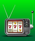 casino slot machine illustrated as TV