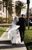 Soft Focus Bride And Groom