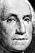 Vector George Washington trace from $1 bill