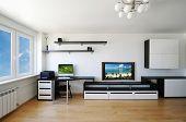 moderne Luxus Wohnzimmer Innenraum. keine Markennamen oder copyright-Objekte.