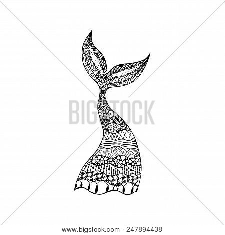 Vector Hand Drawn Ornamental Mermaid
