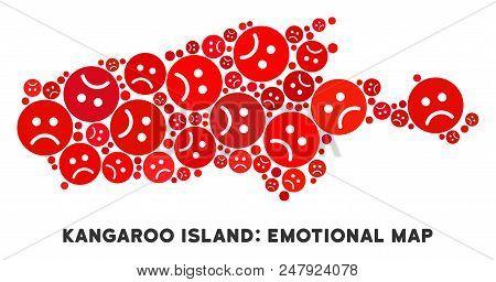 Emotion Kangaroo Island Map Mosaic