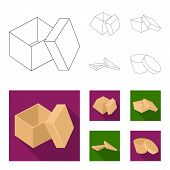 Case, Shell, Framework, And Other  Icon In Outline, Flat Style.box, Container, Package Icons In Set  poster