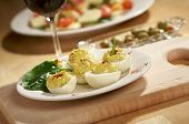 Deviled Eggs And Appetizers