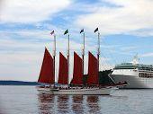 Schooner Vs Cruise Ship