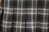 stock photo of kilt  - Scottish kilt fabric close - JPG