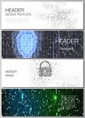 The Minimalistic Vector Illustration Of The Editable Layout Of Headers, Banner Design Templates. Bin poster