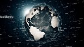 Global Network Connections Around The Earth poster