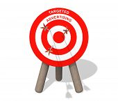 Targeted Advertising Board With Arrows