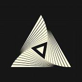 Sacred Geometry. Graphic Linear Triangle. Triangular Symbol Of Life. Masonic Order. Secret Symbol Of poster