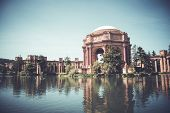 Palace of Fine Arts in San Francisco, California, USA. poster
