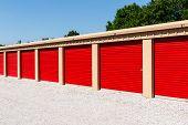 Numbered Self Storage And Mini Storage Garage Units I poster