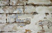 стена кирпич шов состарено ретро бетон кладка трещина улица дом стройка poster