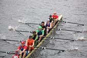 Harvard races in the Head of Charles Regatta