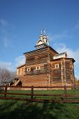 Moscow. The wooden church at Manor Kolomenskoe.