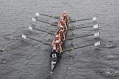 University of Rhode Island (URI) women's Eights races in the Head of Charles Regatta