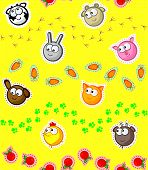 Farm Pets Wallpaper Seamless