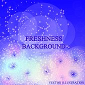 Bright Freshness Background. Blue Abstract Backdrop. Ecology Theme Flyer Template. Bright Fresh Conc poster
