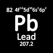 Periodic Table Element Lead Icon On White Background. Vector Illustration. poster