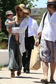 MALIBU - JUL 8: Rachel Zoe, Rodger Berman, son Skyler out for a walk on July 8, 2012 in Malibu, Cali