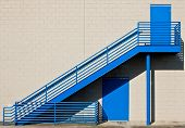 Blue Metal Stairs