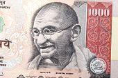 Gandhi On Thousand Rupee Note