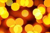 Holiday Defocused Gold And Orange Lights