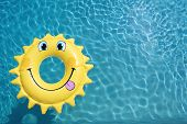 Sun Shape Float On A Swimming Pool