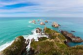 Beautiful rocky Nugget Point of NZ Catlins Coast