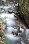 Slow Exposure Mountain Stream poster