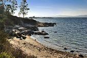 kleiner Strand auf der Insel arousa