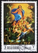 Postage stamp Ras al-Khaimah 1970 The Assumption by Philippe de