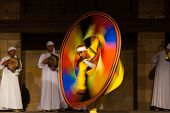 Egyptian Sufi Dancing Motion Blur Yellow