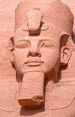 Постер, плакат: Рамсес II статуя в Абу Симбел